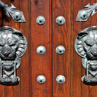 Picture - Door knockers on home in Beacon Hill, MA.