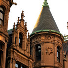 Picture - Architectural features building in Beacon Hill District, Boston.