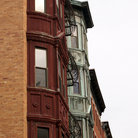 Picture - Multi colored buildings in the historic Beacon Hill Area of Boston.