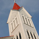 Picture - Church steeple in Beaufort.