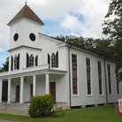 Picture - The colonial style First African Baptist Church in Beaufort.