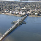 Picture - An aerial view over Beaufort downtown and bridge.