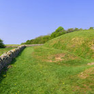 Picture - Stone wall at Belas Knap near Winchcombe.