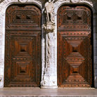 Picture - Old doors in Belem.