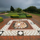 Picture - A cat mosaic at the Belfast Castle.