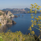Picture - View from Quattrocchi on the Island of Lipari.