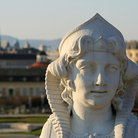 Picture - Face of Sphinx In the garden of the Belvedere Palace, Vienna.