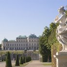 Picture - View to Belvedere Palace in Vienna.