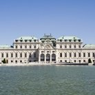 Picture - Belvedere seen across the water in Vienna.