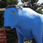 Picture - Statue of Babe the Blue Ox in Bemidji.