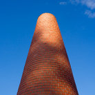Picture - A brick chimney in the Bercy area of Paris.