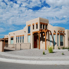 Picture - Southwestern adobe in Bernalillo, New Mexico.