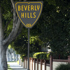 Picture - Sign showing Beverly Hills border.