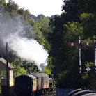 Picture - Train just outside the station at Bewdley.