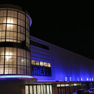 Picture - De La Warr art deco pavilion at night in Bexhill-on-Sea.
