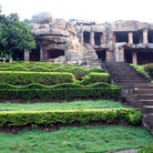 Picture - The Hills riddled with caves from the 1st Century BC in Bhubaneshwar.