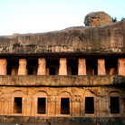 Picture - Ancient caves of the Jains in Bhubaneshwar.