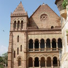 Picture - Exterior of the palace in Bhuj.
