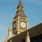 Picture - Big Ben seen over top of the House of Parliament in London.