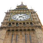 Picture - Close up view of the top of Big Ben in London.