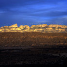 Picture - The Sierra Del Carmen at sunset as seen from Big Bend National Park.