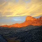 Picture - El Capitan at sunrise, in Guadalupe Mountains National Park.