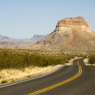 Picture - Road through Big Bend National Park.