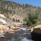 Picture - View of Big Thompson River in Estes Park.