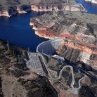 Picture - Aerial View of Bighorn Canyon National Recreation Area.
