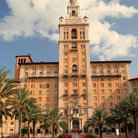 Picture - Front view of the well known Biltmore Hotel in Coral Gables.
