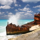 Picture - Ship wreck at Bimini Island.