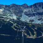 Picture - Chairlife and ski runs on Blackcomb Mountain at Whistler.