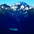 Picture - View from the air of Blackcomb Mountains.