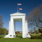 Picture - Blue sky over the Peace Arch near Blaine.