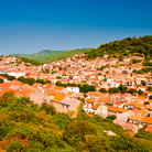 Picture - View over the red roof homes of Blato.