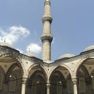 Picture - Tower of the Blue Mosque in Istanbul.