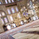 Picture - Interior of the Blue Mosque located in Istanbul.