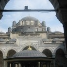 Picture - Archway to the Blue Mosque in Istanbul.