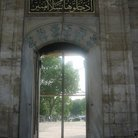 Picture - Side door of the Blue Mosque in Istanbul.