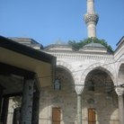 Picture - The courtyard of the Blue Mosque in Istanbul.