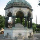 Picture - The hexagonal Ablutions Fountain in the Blue Mosque in Istanbul.
