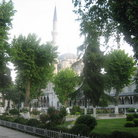 Picture - Gardens outside the Blue Mosque in Istanbul.