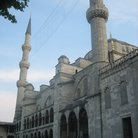 Picture - Details of the minarets of the Blue Mosque in Istanbul.