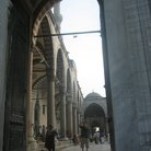 Picture - Archway to the courtyard of the Blue Mosque in Istanbul.
