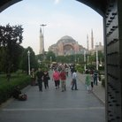 Picture - View of Hagia Sophia from the Blue Mosque in Istanbul.