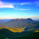 Picture - The lush hills of Blue Mountains National Park.