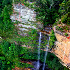 Picture - A waterfall in Blue Mountains National Park.