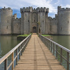 Picture - The boardwalk to Bodiam Castle.