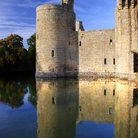 Picture - Bodiam Castle reflecting in the water.