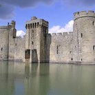Picture - Bodiam Castle surrounded by it's wide moat.